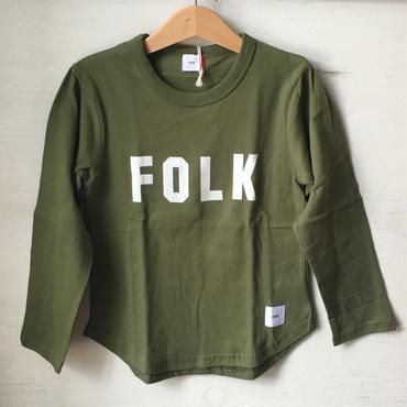FOV FOLK  L/S T シャツ(カーキ)