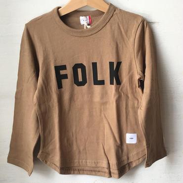 FOV FOLK  L/S T シャツ(キャメル)