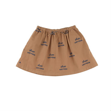 tinycottons shoo worries woven skirt(lightbrown)