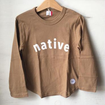 FOV native  L/S T シャツ(キャメル)