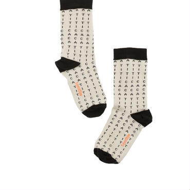 tinycottons alphabet soup socks(beige/black)