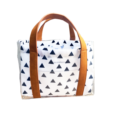 chocolatesoup  GEOMETRY CLEAR TOTE BAG (triangle)