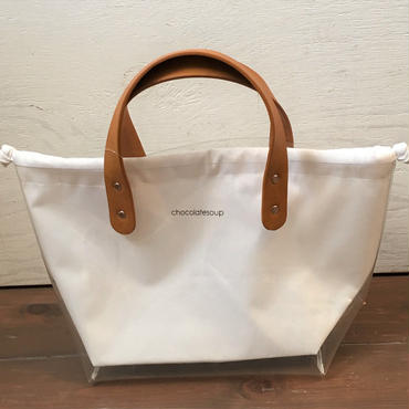 chocolatesoup  UTILITY TOTE BAG (white)