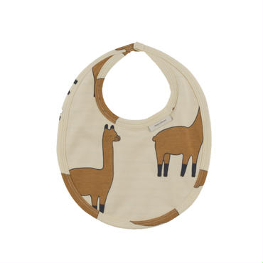 tinycottons llamas bib(beige/nude)