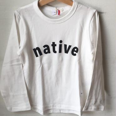FOV native  L/S T シャツ(ホワイト)