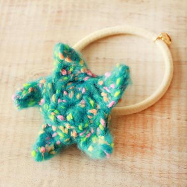 Starfish Knit Hair-gum -Green-