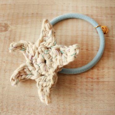 Starfish Knit Hair-gum -White-