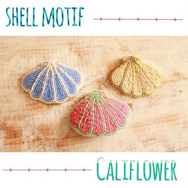 Shell motif beads