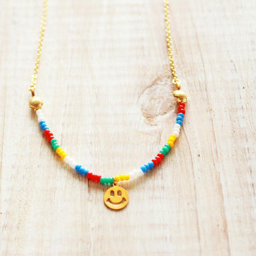 Smile Beads Necklace -MULTI- A