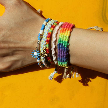 Rainbow Hemp Bracelet A