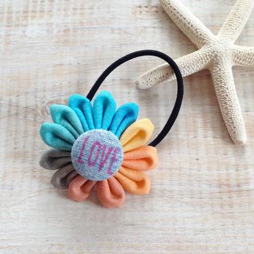 Flower Hair-gum Bracelet -LOVE-