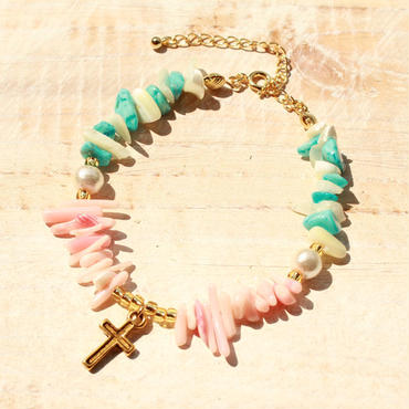 Shell Bracelet  -Cross-