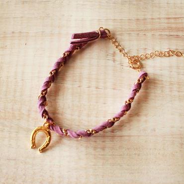 Horseshoe Suede Bracelet -Purple-