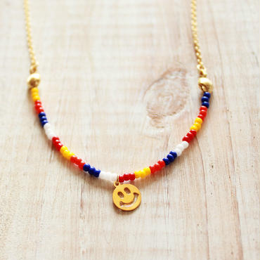 Smile Beads Necklace -MULTI- B