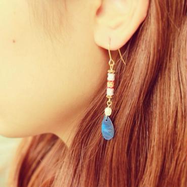 Shall Earrings -Blue-