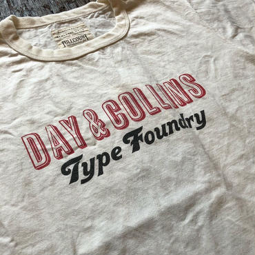 FULLCOUNT / DAY&COLLINS TEE(FRONT PRINT)