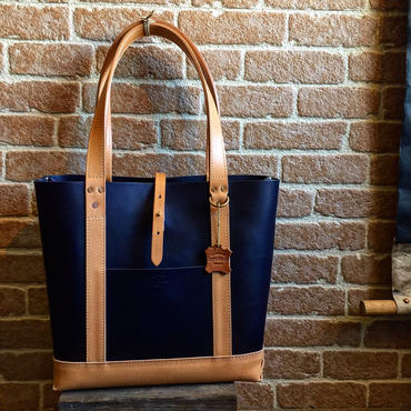 LEFT HAND TOTE BAG HARVEST別注 / NAVY×NATURAL