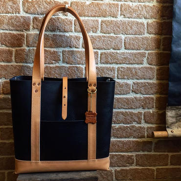 LEFT HAND TOTE BAG HARVEST別注 / BLACK×NATURAL