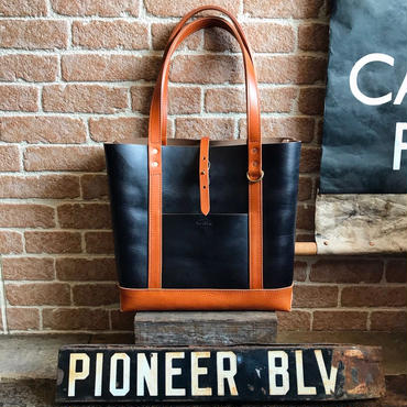 LEFT HAND TOTE BAG GRcompany別注 / 限定Horween Chromexcel BLACK×CAMEL