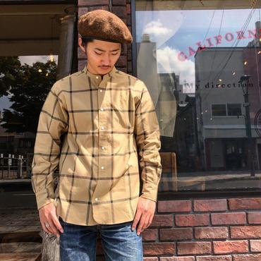 HAVERSACK / オーバーチェックバンドカラーシャツ
