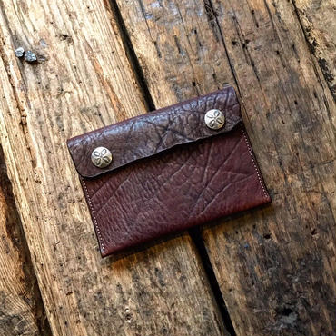 Dutch Leather Company × Japanese Silver Smith MASAYOSHI clutch bag(S)