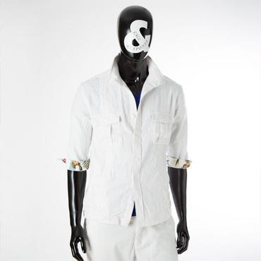 ミリタリースタンド5分袖ジャケット 161-1105-01