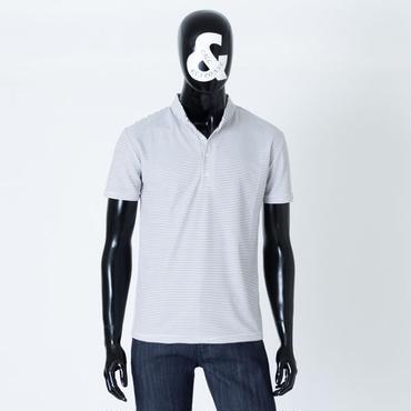 バンドカラー半袖ポロシャツ  /  CALL&RESPONSE  / 171-1324-21