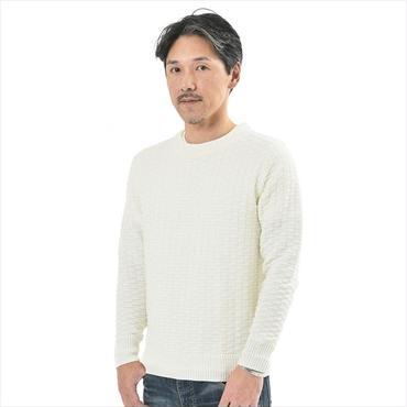181-1441-02 / ジャガードコットン長袖ニット