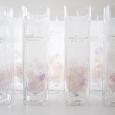 clear  floral candle
