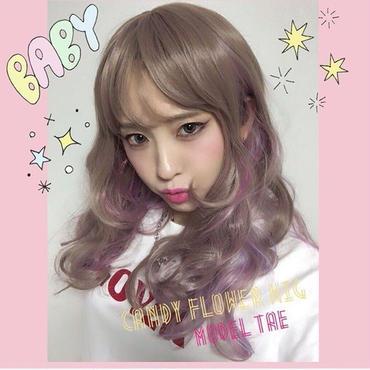 ユニコーンカラー♡シースルーバング姫カットフルウィッグ