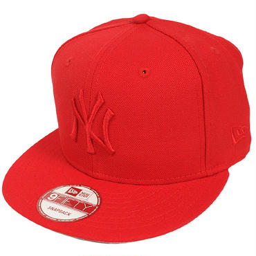 SNAP239 NEWERA ニューエラ ベーシック スナップバックキャップ ヤンキース (MLB) レッド 9FIFTY SNAPBACK CAP YANKEES RED 11136114