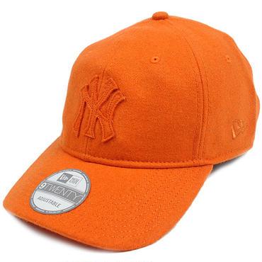 TON04 NEWERA ニューエラ トナルメルトン 920 ストラップバックキャップ ヤンキース オレンジ MELTON 9TWENTY CAP YANKEES(MLB) 11166227