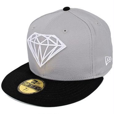 DM127 DIAMOND SUPPLY Co. × NEWERA BRILLIANT CAP C15DHE04 ダイアモンド × ニューエラ ブリリアント 59フィフティー キャップ グレー