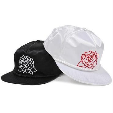 OBEY MIRA ROSA SATIN SNAPBACK CAP BLACK、WHITE ミラロサ スナップバックキャップ ブラック、ホワイト OBEY275