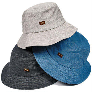 OBEY253 OBEY GRANDEUR BUCKET HAT GRAY、BLUE、CHACOAL オベイ グランデュア バケットハット グレー、ブルー、チャコール