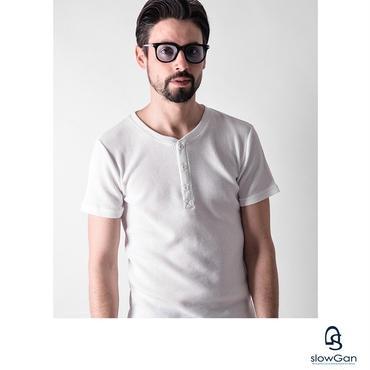 Tシャツ メンズ Vネック Uネック クルーネック ヘンリーネック ワッフル / ヘンリーネックワッフルTシャツ