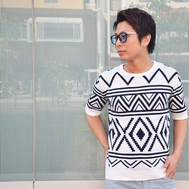 メンズ ニット セーター Uネック クルーネック ネイティブ柄 ペンドルトン柄 / ネイティブサマーニットセーター