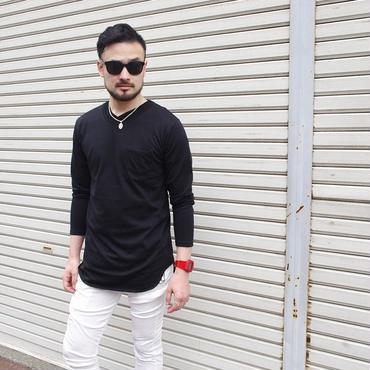 Tシャツ 長袖 クルーネック ストリート モード / 長袖ロングTシャツ Suggestion / サジェスチョン