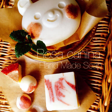 ★coni Hand Made soap Lesson★ 潤いのハーブ ローズヒップの石けん作り