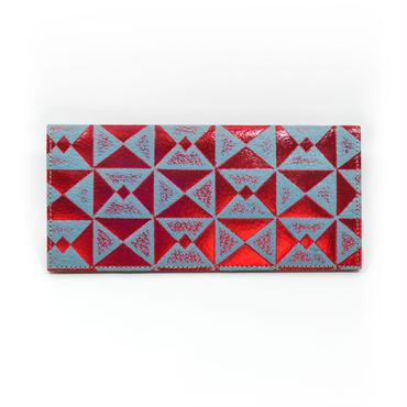 フラットパスポートケース オリガミレッド&ブルー【Passport Case(Origami)】