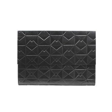 フラットバイヤーズバッグ(iPadケース) オリガミブラック【Flat Buyer's Bag(Origami)】