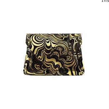 レザーミニウォレットマーブルゴールド【Leather Mini Wallet Marble Gold】