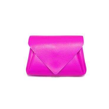 ビビッドレザー ミニウォレット ピンク 【Vivid Mini Wallet Pink】