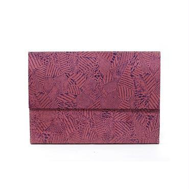 フラットバイヤーズバッグ(iPadケース) ツギハギピンク&パープルFlat Buyer's Bag(Patchy)