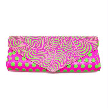 レザーウォレット ドリーム ネオンピンク【Long Wallet DREAM Neon Pink】