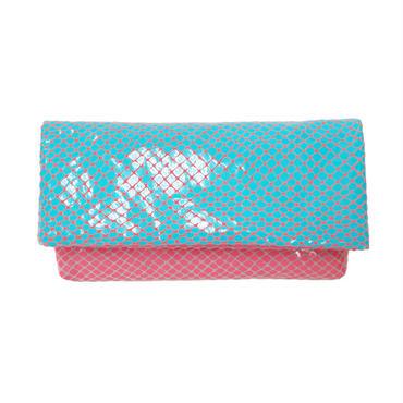 スムースウォレット【Smooth Wallet Clear BluePink】クリア ブルーピンク