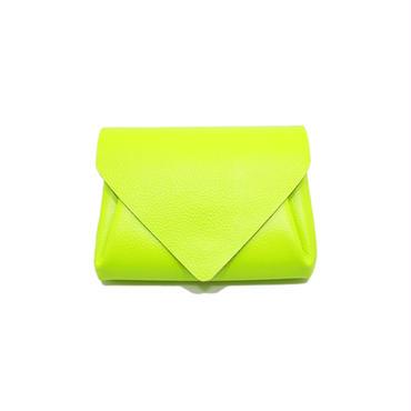 ビビッドレザー ミニウォレット イエロー 【Vivid Mini Wallet Yellow】