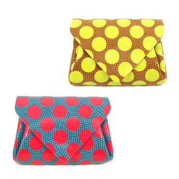 ドットレザー ミニウォレット ネオンカラー 【Dot Leather Mini Wallet NeonColor】