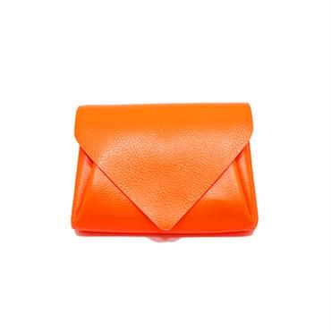 ビビットレザー ミニウォレット オレンジ 【Vivid Mini Wallet Orange】
