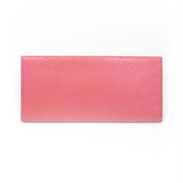 フラットパスポートケース ジグザグ ピンク